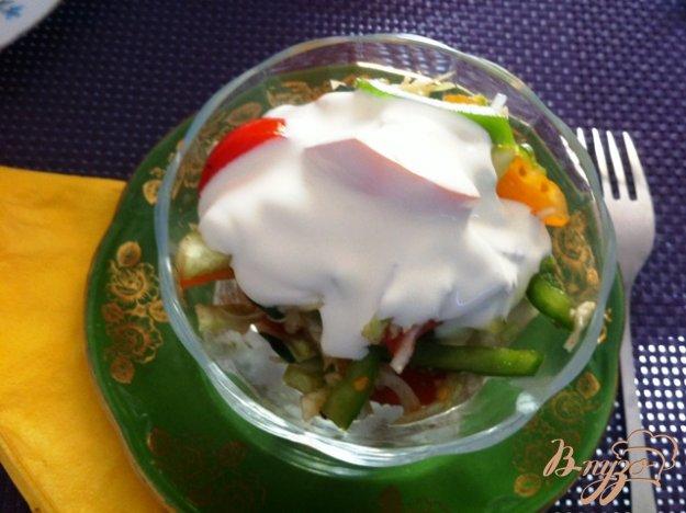 Рецепт Овощной салат с капустой