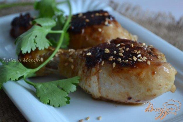 фото рецепта: Куриные ножки в медово-соевом соусе