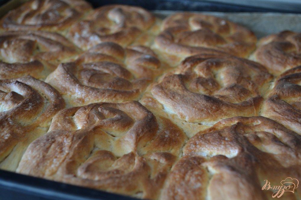 Фото приготовление рецепта: Сахарные плюшки на сгущеном молоке шаг №10