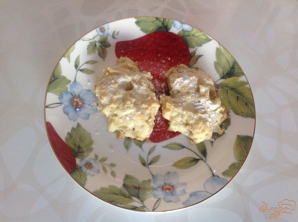 Фото приготовление рецепта: Яблочные печеньки шаг №8