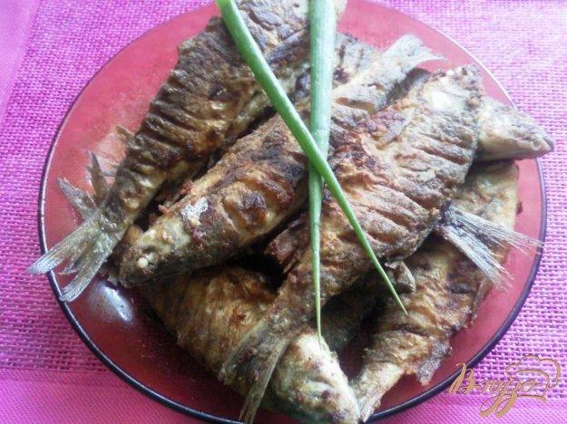 Рецепт Жаренная речная рыба,маринованная в соусе чимичурри