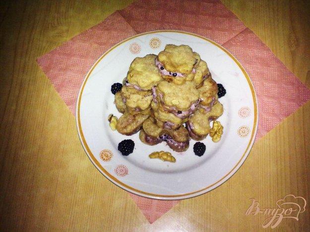 Рецепт Печенье с ежевичным кремом