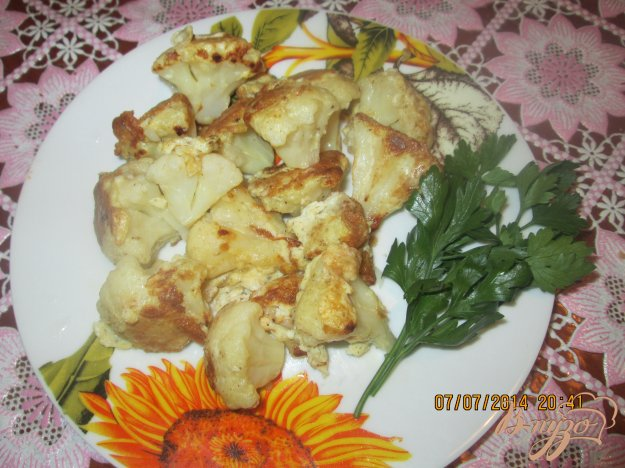 Рецепт Жареная цветная капуста в кляре