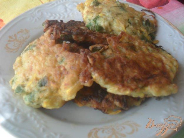 Рецепт Оладьи из кабачка с луком, укропом и чеснаком