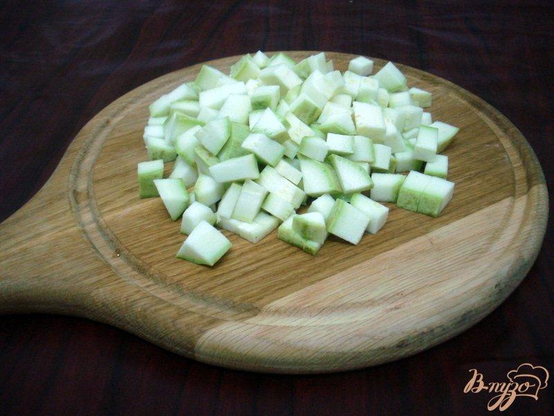 Фото приготовление рецепта: Овощной суп с кабачками и сардельками шаг №9
