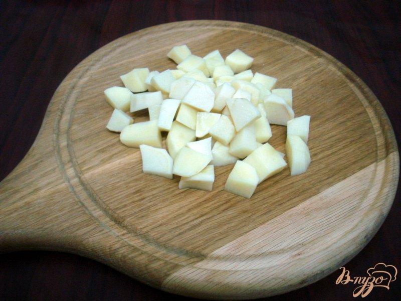 Фото приготовление рецепта: Овощной суп с кабачками и сардельками шаг №3
