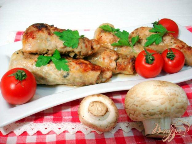 Рецепт Куриные голени фаршированные фаршем и грибами