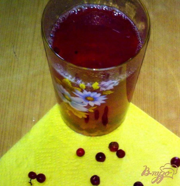 фото рецепта: Компот бруснично-персиковый