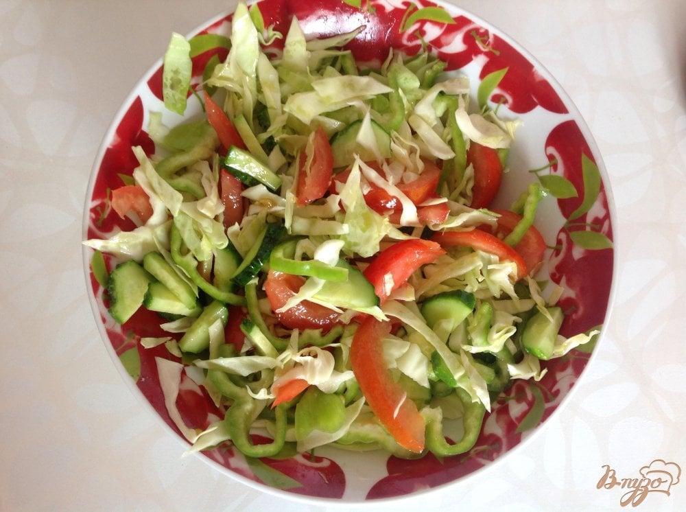 Овощной салат рецепт с фото пошагово