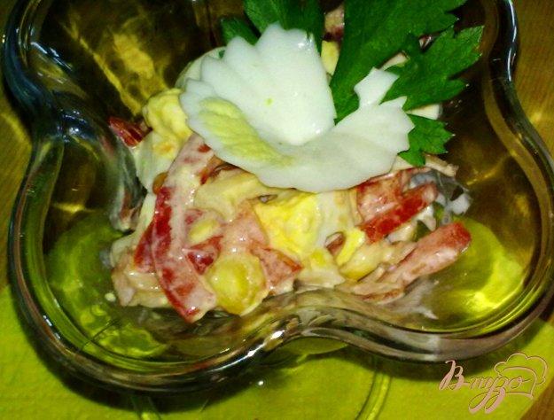 Рецепт Салат с кальмарами и кукурузой
