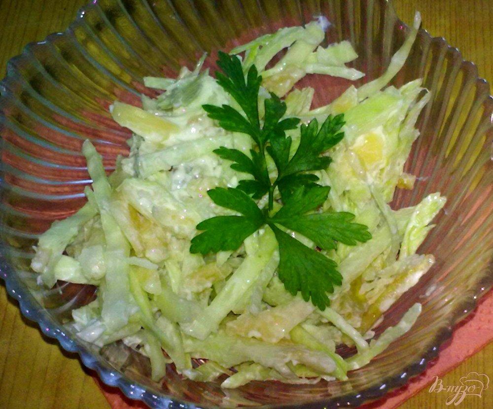 Фото приготовление рецепта: Салат из капусты