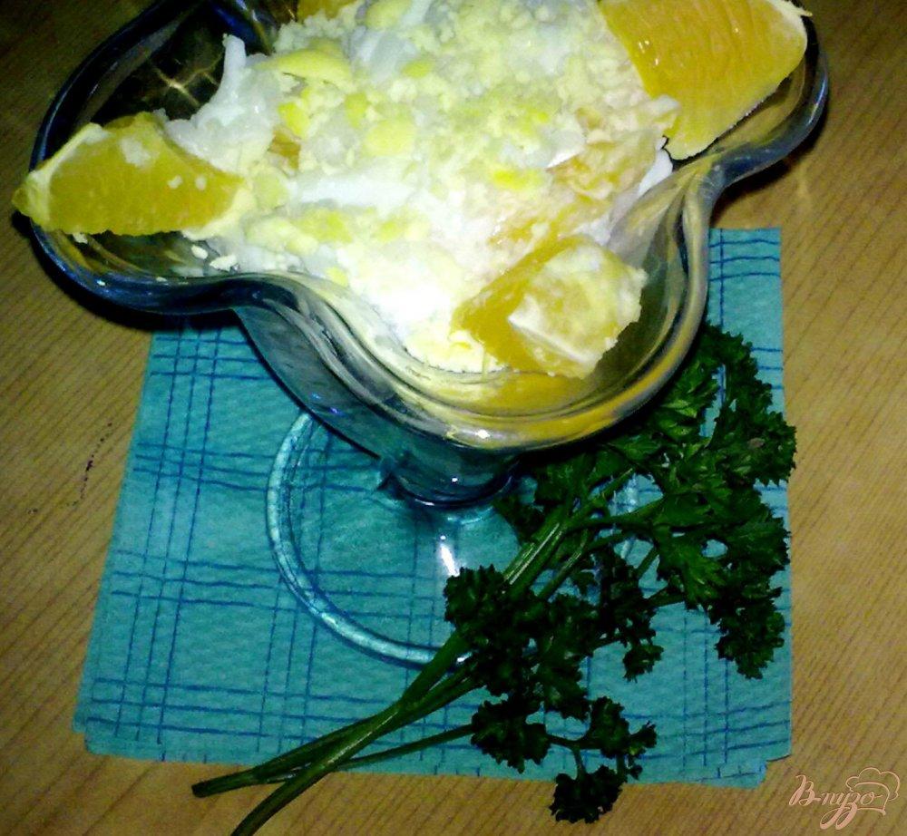 Фото приготовление рецепта: Салат с апельсином