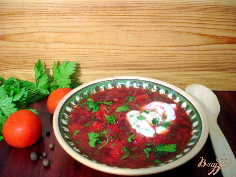 Фото приготовление рецепта: Летний красный борщ шаг №8