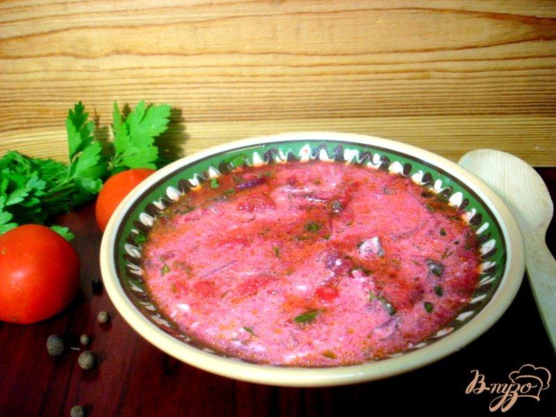 Фото приготовление рецепта: Летний красный борщ шаг №9