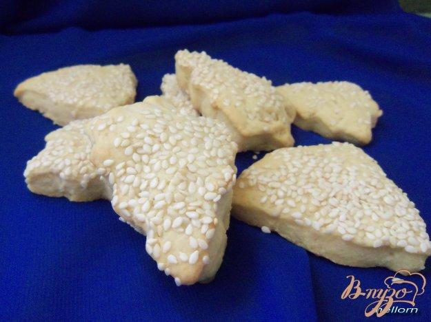 Рецепт Печенье с кунжутом и малиновым ароматом