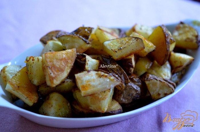 Фото приготовление рецепта: Пряный картофель в духовке шаг №4