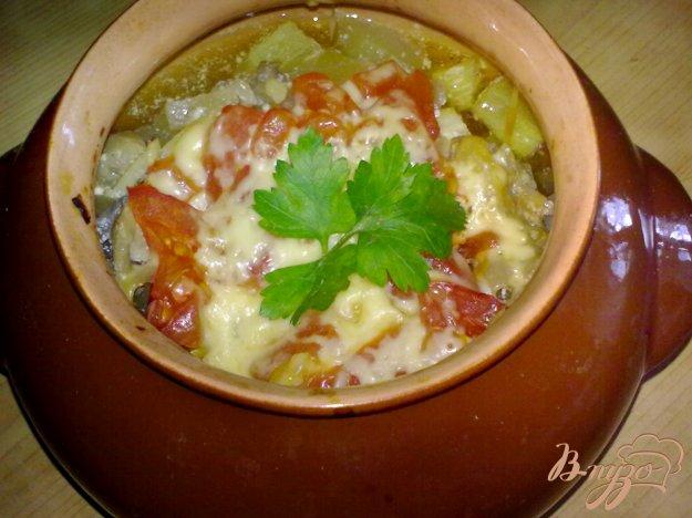 Рецепт Кабачки в горшочке