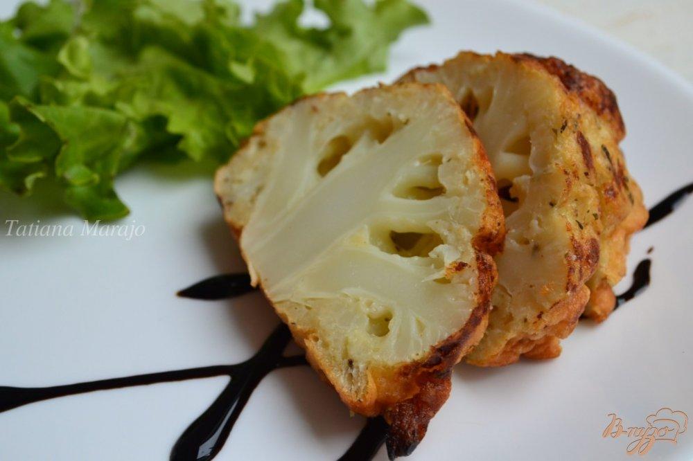 Фото приготовление рецепта: Цветная капуста в кляре шаг №4