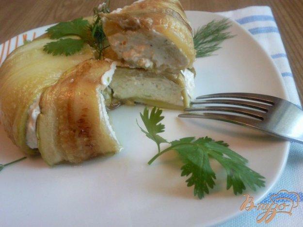 Рецепт Закуска из кабачков и брынзы