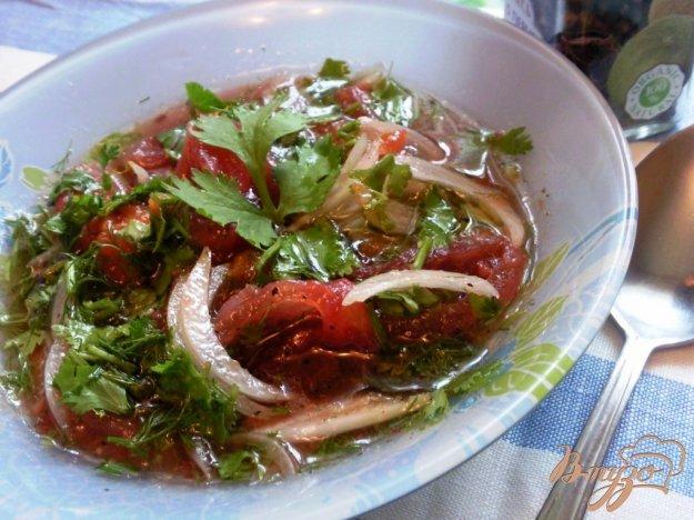 Рецепт Салат из соленых помидоров