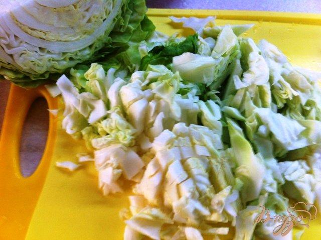 Фото приготовление рецепта: Щи из свежей капусты шаг №3