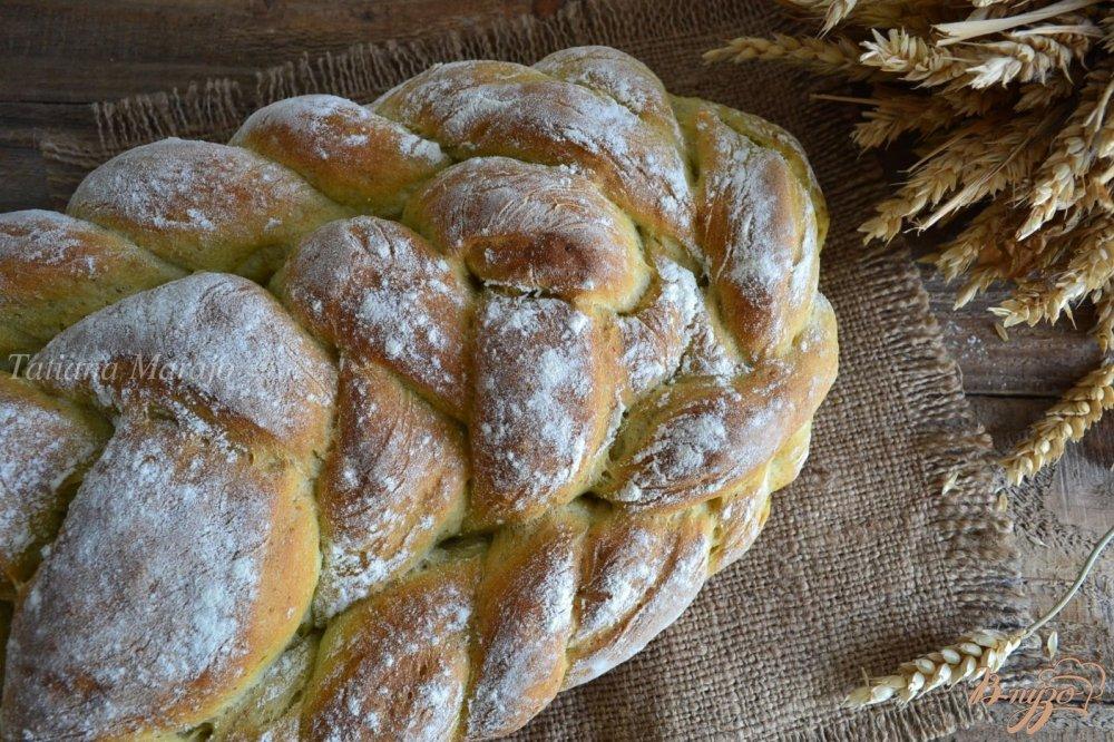 Фото приготовление рецепта: Базиликово-чесночный  хлеб шаг №8
