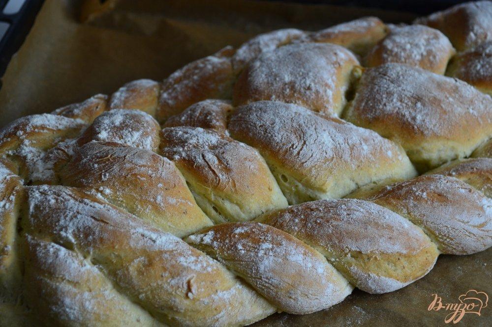 Фото приготовление рецепта: Базиликово-чесночный  хлеб шаг №7