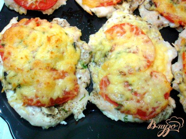 фото рецепта: Отбивные с помидорами