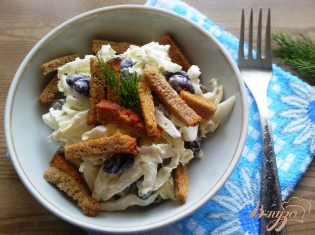 Рецепт Салат из фасоли и грибов