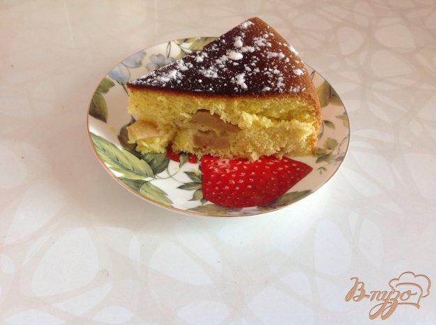 Рецепт Бисквит с яблоками в мультиварке