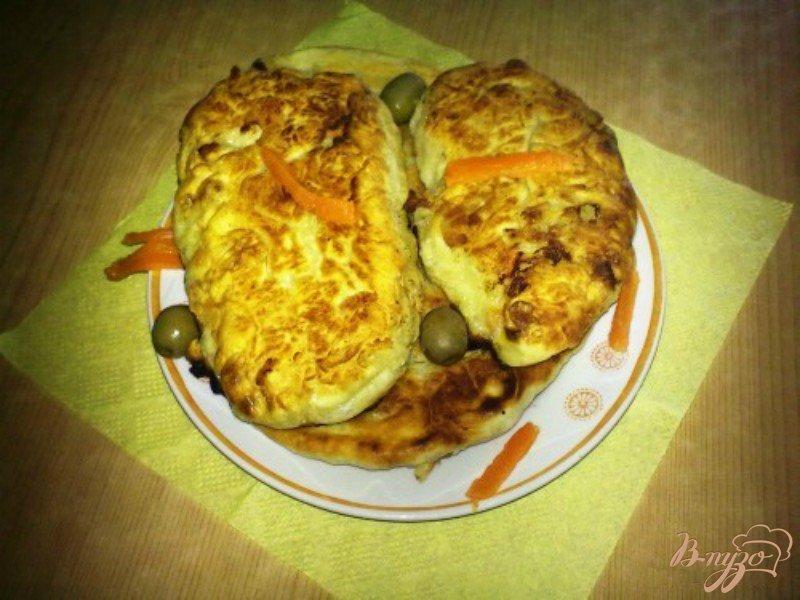 Фото приготовление рецепта: Самосы с курицей и рисом шаг №8