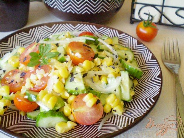 Рецепт Овощной салат с кукурузой