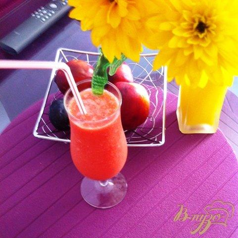 Рецепт Арбузно-апельсиновый смузи