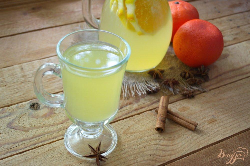 Фото приготовление рецепта: Сельский лимонад из апельсин и лимона шаг №5
