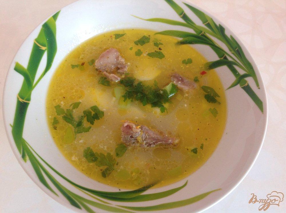 Фото приготовление рецепта: Вермишелевый суп со сливками шаг №5
