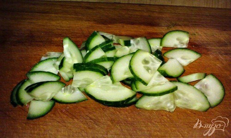 Фото приготовление рецепта: Салат с стручковой фасолью