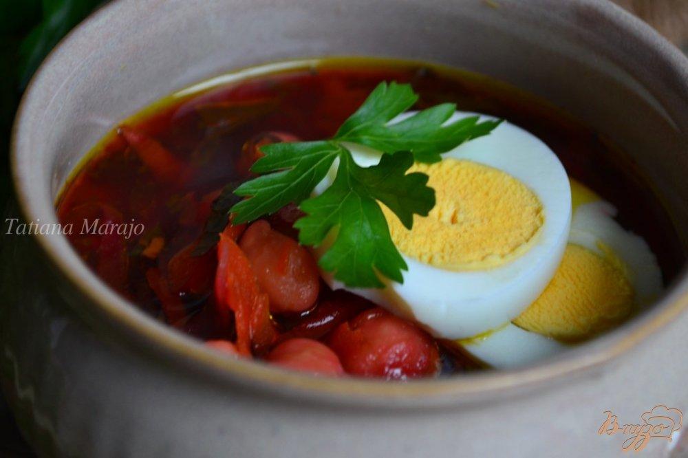 Фото приготовление рецепта: Свекольный суп с нутом шаг №6