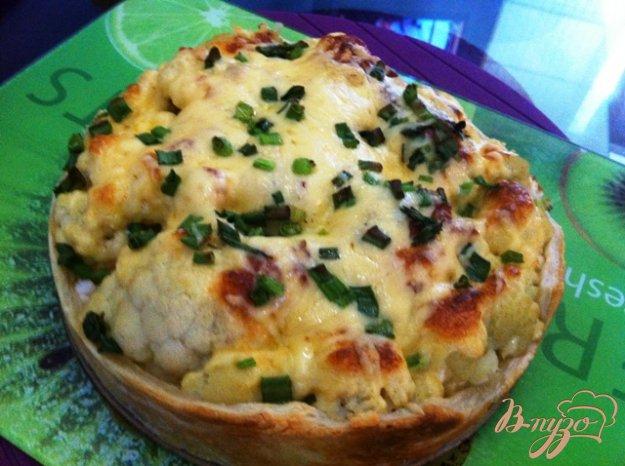 Рецепт Открытый пирог с цветной капустой