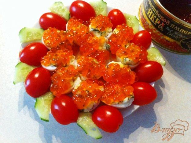 Рецепт Закуска из перепелиных яиц и икры