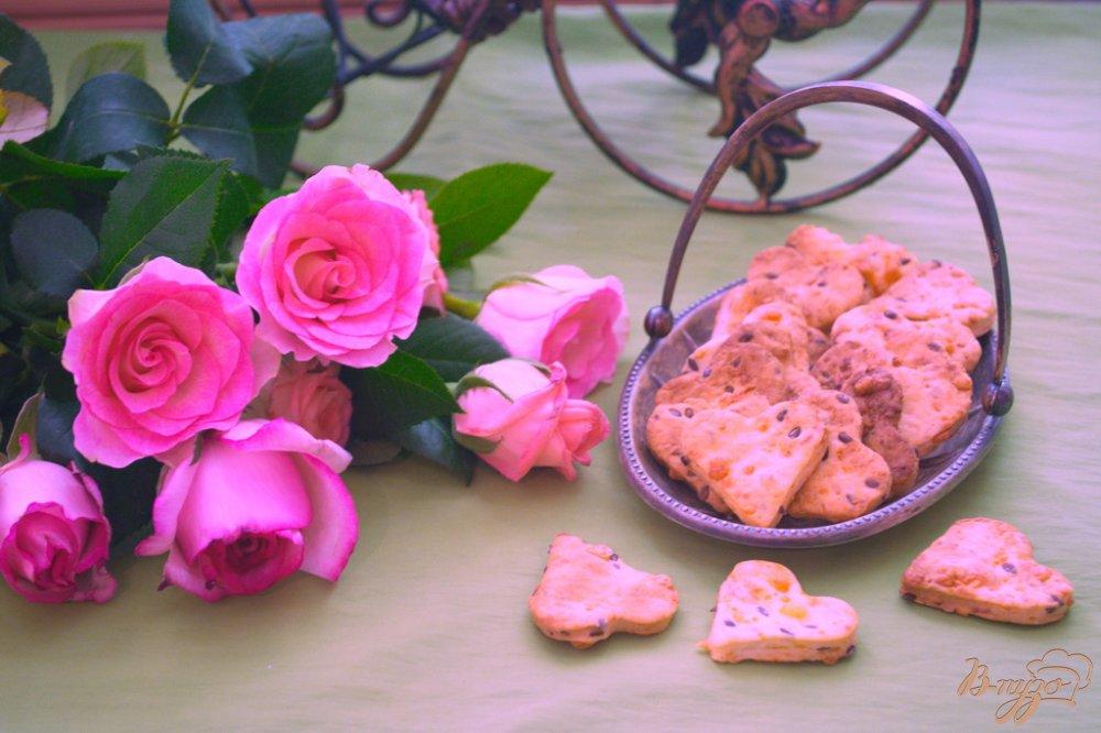 Фото приготовление рецепта: Крекер с семенами льна шаг №6