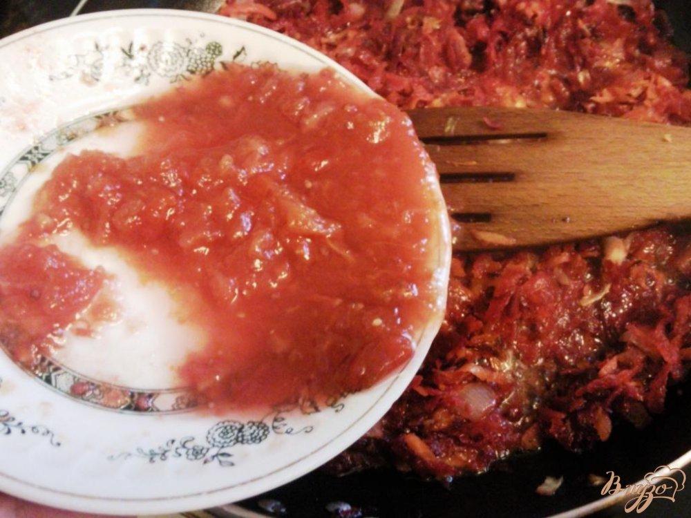 Фото приготовление рецепта: Борщ с фасолью шаг №3