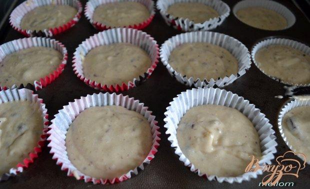 Кексы на топленом молоке с шоколадом и орехами