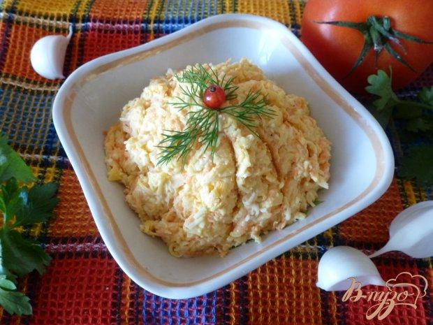 Сырная закуска с морковью и чесноком