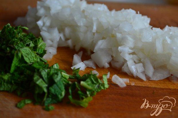 Салат с перловой крупой и мятой