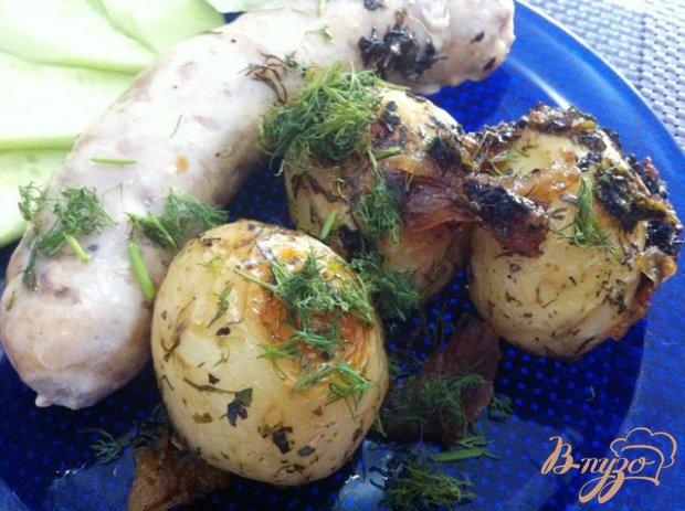 Картофель запеченный с купатами