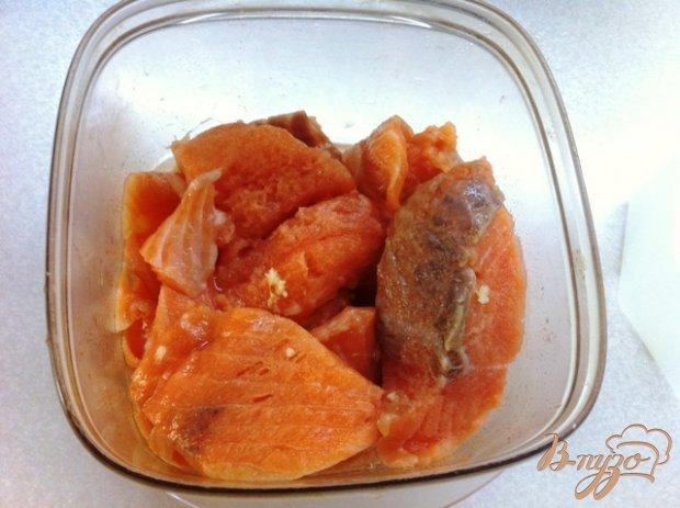 Слабосоленый лосось в имбирном маринаде