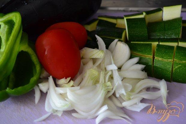 Овощное рагу по-провансальски с яйцом пашот