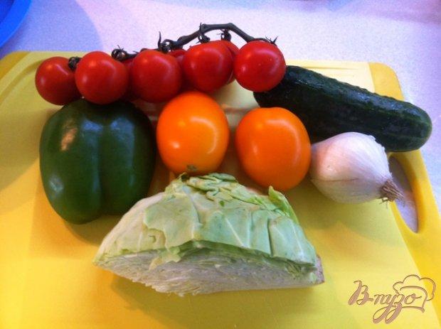 Овощной салат с капустой