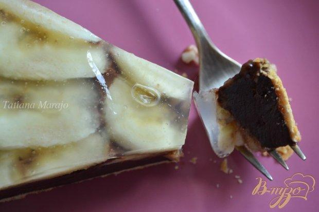 Шоколадный тaрт с бананами