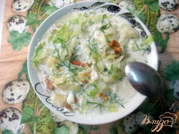 Суп с лисичками и цветной капустой